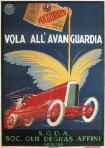 Vintage Italian advertisment poster - Fulgoroleo Oil